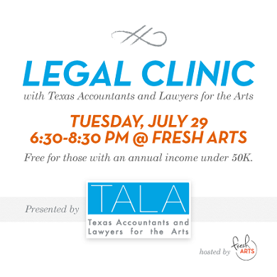 TALA to Give Free Legal Advice to Houston Artists